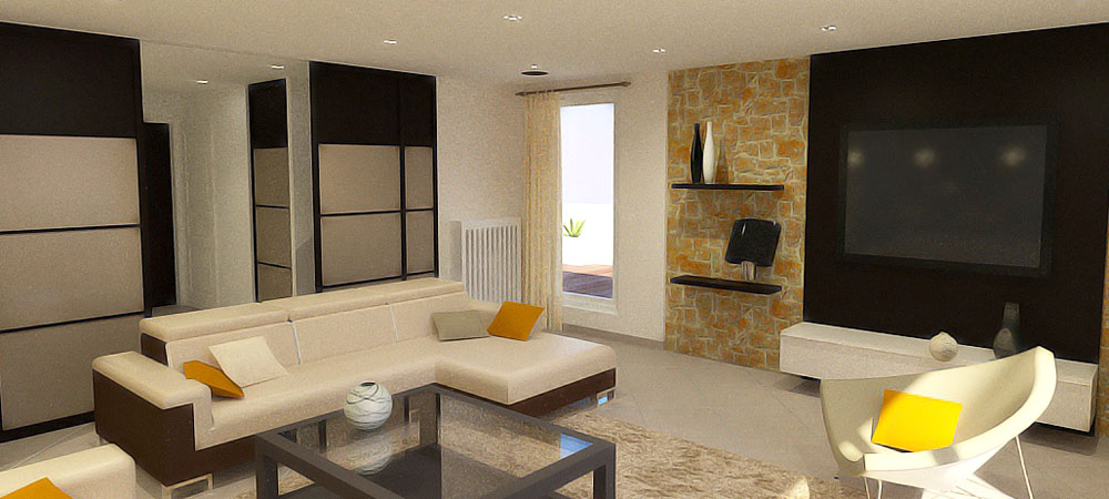 D coration d 39 un appartement duplex charbonni re 69 for Decoration d un sejour