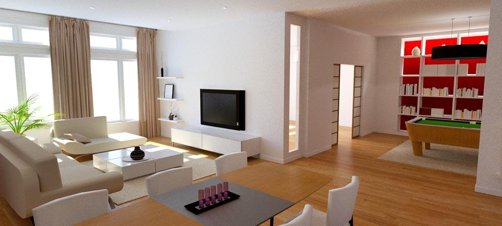 R novation loft quartier montplaisir lyon 8 atelier m ridien for Amenagement sejour